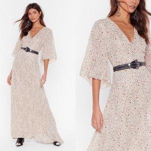 NASTYGAL ASOS Plant Buy Me Love Floral Maxi Dress
